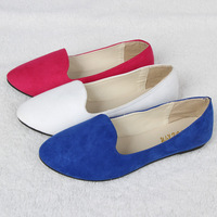 Free Shipping + New Designer breathable super soft ladies version candy-colored round shallow mouth comfortable flat women shoes