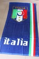 Italy  bule beach towel /  rectangle cotton beach towel 70x145cm