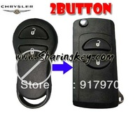 Free shipping  Remodeling Flip key Shell For Chrysler 2 Button Key Fob