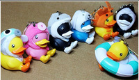 Free Shipping Hot Sell B-duck little duck plush toy full set of small animal ocean dolphin duck and Holiday gifts  Key chain