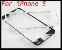 For iPhone 5 Front Glass Lens Bezel Bracket Middle Frame for iPhone5 5G LCD Holder with 3M Adhesive DHL Free shipping