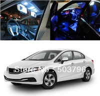Free shipping 3 Light LED Full Interior Lights Package Deal For 2013 and up Honda Civic