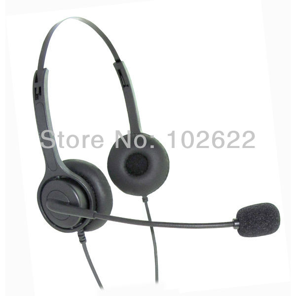 Noise-reduction Professional call center headset direct with RJ09 plug , telephone earphone (6pcs / lot) Free shipping(China (Mainland))