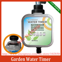 2 Modes Solar powered LCD Electronic Water Timer,Solar charge & Rain Stop function Water Timer,Garden Water Timer made in Taiwan