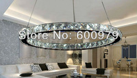 Free shipping+Modern lamp Single-head round crystal LED pendant lamp dia300mm