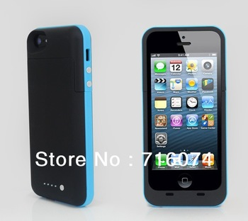 Free Shipping(5pcs/lots)for iphone 5 rechargeable portable 2300mAh battery case