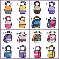 2D bag 3D Cartoon bag Hand bag  fanshion bag 16 styles to choose,Factory price  240 pcs /lot  Free shipping By FedEx