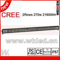 New design cree 3w 43'' 270w 21600lm off road,4x4,motor ,jeep light bar