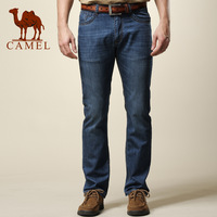 Camel men's clothing summer thin jeans male business casual breathable straight long trousers 089005
