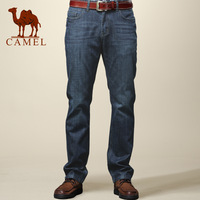 Camel men's clothing straight jeans 100% cotton casual male denim long trousers 079004