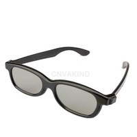 #Cu3 Polarized 3D Glasses Black Movie DVD LCD Video Game Theatre Circular