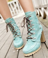Free shipping martin rivets fashion boots for women shoes woman 2013 ladies high heels platform pumps winter party CSXX35005