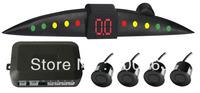 Free shipping Car LED parking sensor,parking assistance,LED Parking Reverse Backup Radar with 4 Sensors,3 colors,DT301
