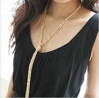 Min. order $9 All-match multi-layer tassel long necklace vintage necklace female long design 107