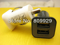 Large capacity 2000ma 3.1A car charger Micro Dual USB port Car Charger  vehicle Adapter for iphone 4 4g 4s ipad 1 2 3 ipod
