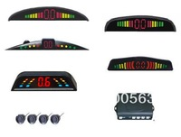 Free shipping Car LED parking sensor,parking assistance,LED Parking Reverse Backup Radar with 4 Sensors,3 colors,5 models LED