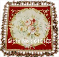 100% Handmade15 Mesh Fashion European design Cushion Cover/Aubusson Silk Pillow/tapestry