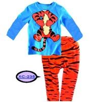 free shipping tigger baby  Long-sleeve tshirts+  long  trouser homewear  kids  sleepwear 6 sets/lot ,XC-235