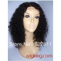 Full Lace Human hair Wig Curly 005