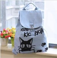 Canvas shoulder bag woman College Wind students bag female Korean version of the cute backpack Japanese canvas bag