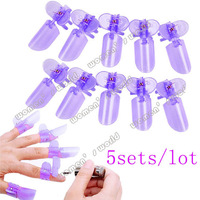 5ses/lot 50pcs Purple plastic Manicure Finger Nail Art Design Tips Cover Polish Shield Protector Clip drop shipping 4512