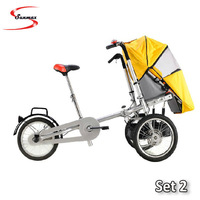 Free Shipping to Europe 2013 hot sale CE, SGS Certificated Mother and children tricycle / Baby stroller /baby tricycle