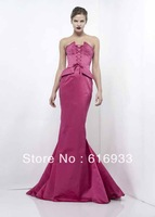 Free Shipping 2013 Unique Style Famous Brand Strapless Floor Length Mermaid Zuhair Murad Evening Dress ZM-3075