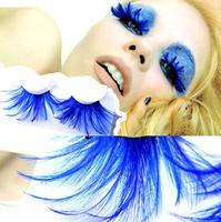 Longthen Blue sexy  Masquerade feather false eyelashes