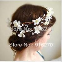 Free shipping hair Jewelry Sen female line Small cherry Garland Bridal Wreath Photos Photography Headdress Hair Accessories