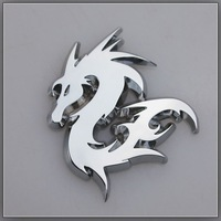 Car decoration stickers dragon car stickers lansdowne emblem 3d three-dimensional personality refit the animal body stickers