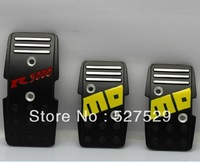 HOT SALE! Free Shipping Aluminum Slip-proof MOMO R3000 Racing Car Pedals MT Foot Freadle Manual