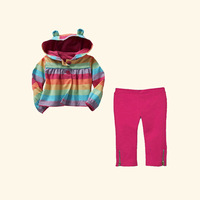 Baby  Autumn And Winter Clothing Set 2 Pcs Cotton Hoodies And Pant Children Easter 2013 Girls Clothes Hot Seller CS21101-12^^EI