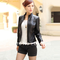The new women's clothing han edition leather jacket. Free shipping