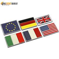 Free Shipping Car flag car stickers national flag emblem body stickers