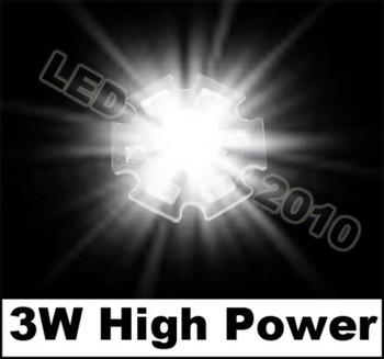 100pcs 3W White HIGH POWER LED Star 170LM 6500K 3watt lamp light