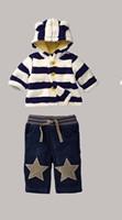 Baby Boys Clothing Suit Kids Autumn Clothes 2 Pcs Cotton Hoodies And Pants For Children Wear CS21101-13B ^^EI