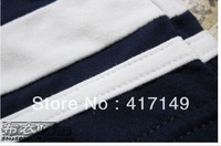 Free Shipping!!-HOT Cotton Shorts / 500pcs/lot Mens Boxer Briefs/Underwear/Navy Blue & White