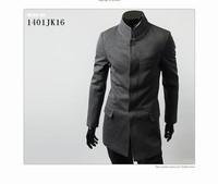 New Fashion Man's Mandarin Collar Buttons Jackets Work Men's Formal Coat outdoor Outwear