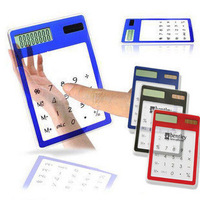 free shipping Ultra-thin multifunctional calculator transparent computer touch screen transparent calculator fashion 60g