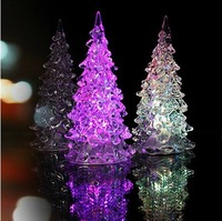 free shipping Romantic acrylic colorful in the christmas tree small night light gift 70