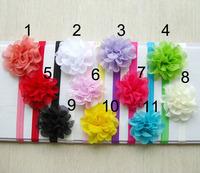 24Pcs/Lot Free Shipping Baby Hairbands infant girls flower headbands Newborn toddler elastic headband popular new gift headwear
