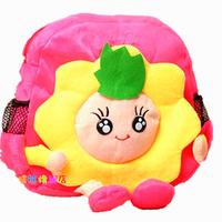 Free Shipping 2013 Cute Little Kids Doll School Bag Fashion Bookbags Baby Girl Plush Fabric Backpack xqw062