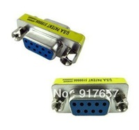 RS232 Gender Changer DB9 9pin Female to Female VGA Gender Changer Adapter F-F