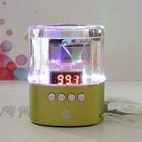 LED Portable F10 Music Player Mini Speaker USB TF Card Slot Stereo FM For PC MP3
