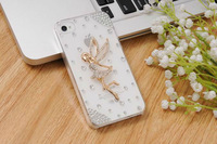 Free Shipping for Zopo C2 Women Fashion Luxury Crystal Bling Design 3d Workaman Ship Angel Girls Back Diamond Case accessory