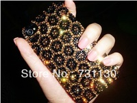 Luxury style shiny diamond bling jewel plastic case for iphone 4 4s 5 free shipping