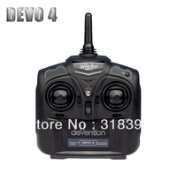 Free shipping 100% original walkera cheapest DEVO 4 4ch RC helicopter transmitter 2.4GHZ Radio controller DEVO4