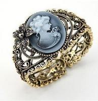 "Retro luxury women's fashion jewelry bangles hollow carved ""prayer Maria"" Beauty Avatar bracelet with Charming fragrance"
