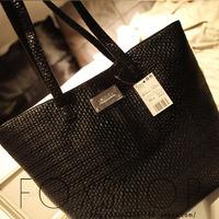 Mango fashion black knitted fashion women's handbag big bag women's bags mng 2013 shoulder bag