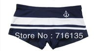 Free Shipping! Wholesale 500pcs/lot  Sexy matching colour navy stripe Men's Underwear